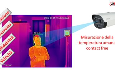 Misurazione della  temperatura umana  contact free